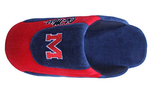 and Low Mens Rebels OFFICIALLY Mississippi Pro Happy College Slippers Womens NCAA Feet LICENSED wpUxE1