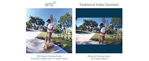 Arlo Essential Video Doorbell Wire-Free - HD Video, 180° View, Night Vision, 2 Way Audio, Direct to Wi-Fi No Hub Needed…