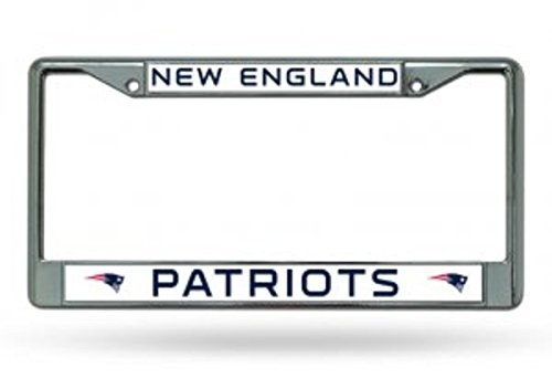(Rico Industries NFL New England Patriots Standard Chrome License Plate Frame)