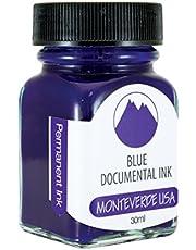 Monteverde g309du butelka z tuszem, 30 ml, dokument permanentny niebieski