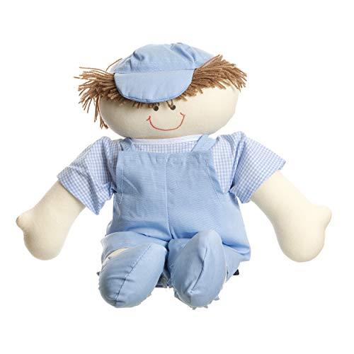 Boneco Daniel, Quarto Bebê Infantil Menino, Potinho de Mel, Azul