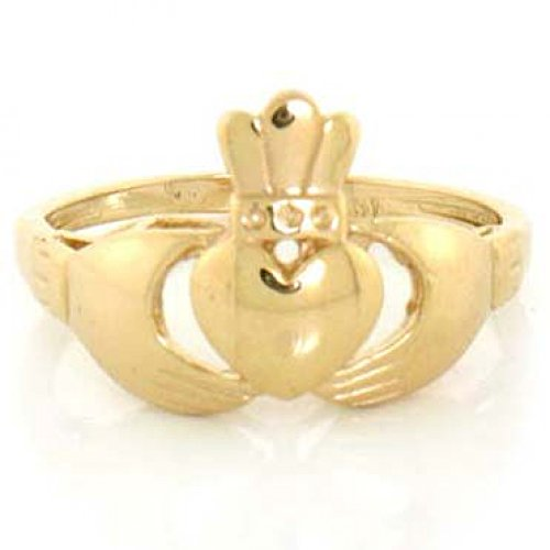 10k Solid Yellow Gold Claddagh Ring by Jewelry Liquidation