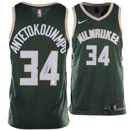 3240ffb3db3 Milwaukee Bucks Autographed Jerseys. GIANNIS ANTETOKOUNMPO Milwaukee Bucks  Autographed Nike Green Swingman Jersey FANATICS