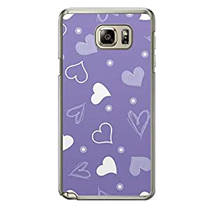 Loud Universe Samsung Galaxy Note 5 Love Valentine Printing Files A Valentine 134 Printed Transparent Edge Case - Purple