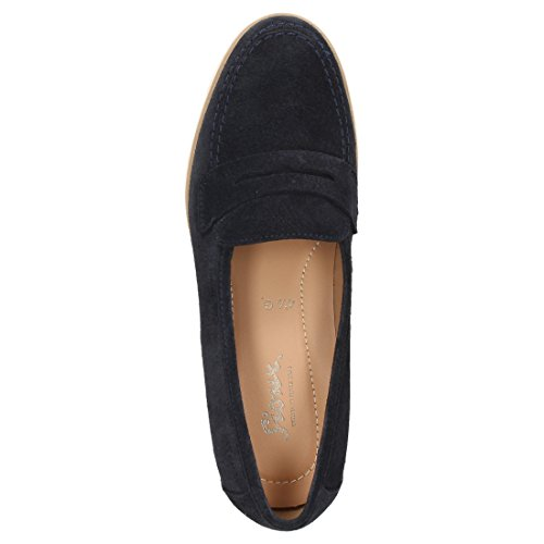 Sioux Damen Slipper Velisca-700 Blau