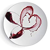 """7"""" Wine Heart Shape with Spilling Red Wine in Glasses Romantic Valentines Day Concept Decorative"""