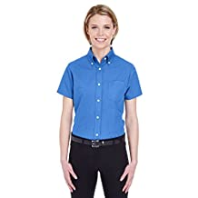 Ladies' Classic Wrinkle-Resistant Short-Sleeve Oxford FRENCH BLUE L