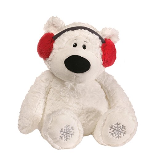 (GUND Blizzard Teddy Bear Holiday Stuffed Animal Plush, White, 16