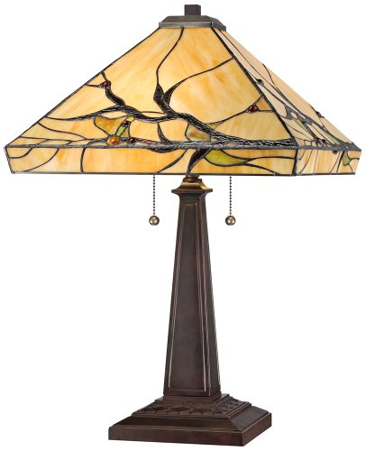 Room Collection Pedestal Column (Budding Branch Robert Louis Tiffany Table Lamp)