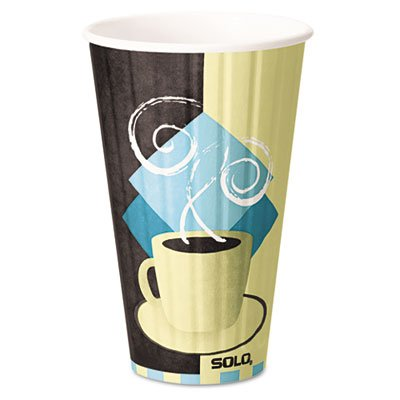 SOLO IC20-J7534 Duo Shield Insulated Hot Cup, 20 oz. Capacity, Tuscan Cafe (Case of 350)