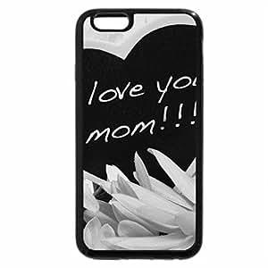 iPhone 6S Plus Case, iPhone 6 Plus Case (Black & White) - LOVE