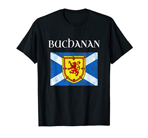 (Buchanan Scottish Clan Name T Shirt Coat Arms Lion Flag)