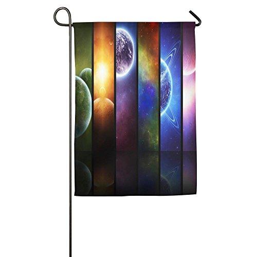 HenSLK Eight Planets Vertical House Flag,garden Flag,home Flag,indoor