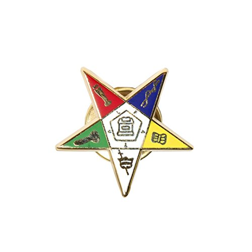 OES Shield Star Order of the Eastern Star Lapel Pin