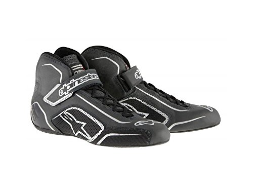 ALPINESTARS TECH 1-T SHOES - BLACK/ANTHRACITE - SIZE 8.5 - SFI 3.3 LEVEL 5/FIA - FULL-GRAIN LEATHER by Alpinestars