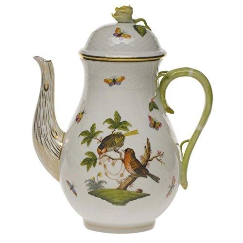 Herend Rothschild Bird Coffee Pot With - Rothschild Bird Herend