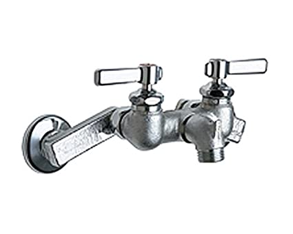 Chicago Faucets 305 RCF Wall Mount Service Sink Faucet With Adjustable  Centers, Rough Chrome