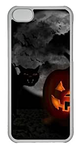Customized Case Funny halloween PC Transparent for Apple iPhone 5C