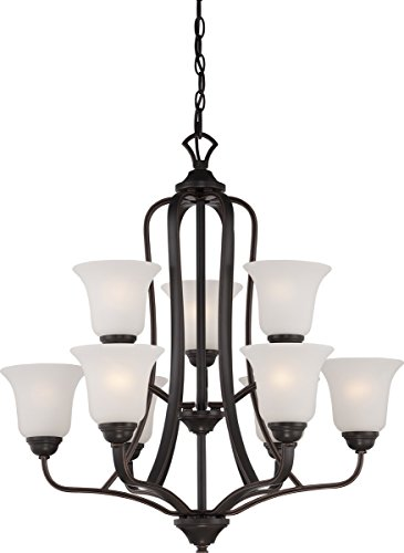Chandeliers 9 Light with Sudbury Bronze Finish E12 Incandescent 27 inch 540 - Sudbury Bronze Finish