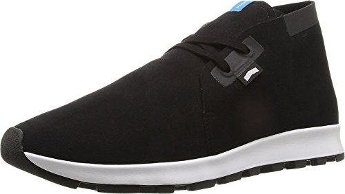Shell Mens Boot Chukka - Native Shoes Men's Ap Chukka Hydro Boot Black/Shell White/Jiffy Rubber, 6 M US