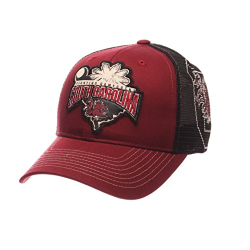 Zephyr NCAA South Carolina Fighting Gamecocks Men's Interstate Trucker Cap, Adjustable, Cardinal