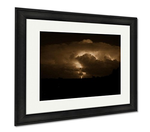 Ashley Framed Prints Oklahoma Thunderstorm  Wall Art Home Decoration  Sepia  26X30  Frame Size   Black Frame  Ag6095650