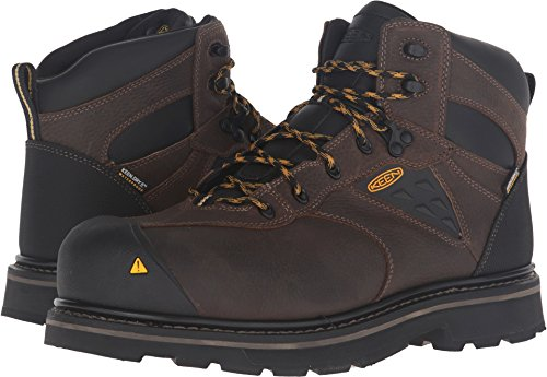 Keen Utility Men's Tacoma Waterproof Work Boot, Cascade Brown/Tawny Olive, 9 M US (Work Boots Toe Composite)