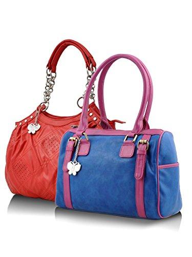 Butterflies Women's Handbag 19 X 11 X 3.5 Red, Bue by Butterflies