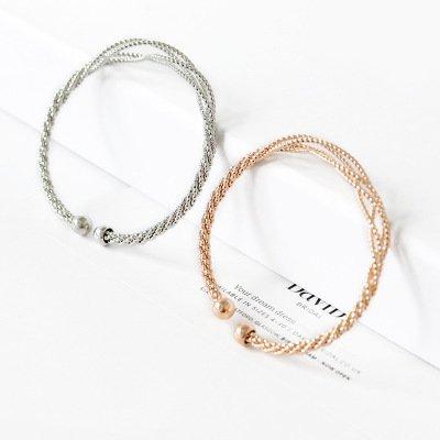 JAJAFOOK gold-plated elastic adjustable cuff opening hollow twist bracelet
