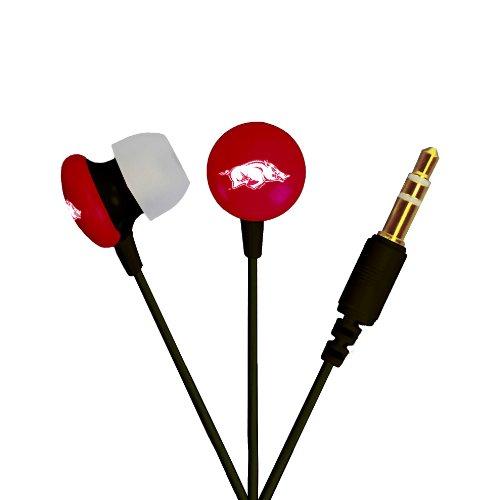 AudioSpice NCAA Arkansas Razorbacks Ignition Earbuds, Black