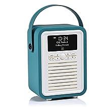 VQ Retro Mini HD & FM Radio with Bluetooth Speaker - Teal