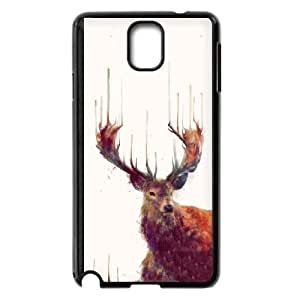 Samsung Galaxy Note 3 Cell Phone Case Black Red Deer Stag Kvada
