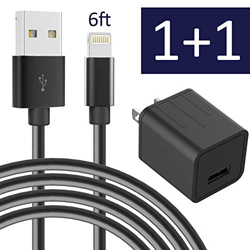 Charger for iPhone with USB cube - Black