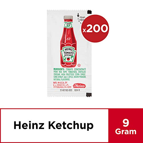 Heinz Ketchup Single Serve Packets (0.3 oz Packets, Pack of 200) ()