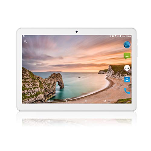 Android Tablet 10 Inch, Phablet Unlocked 3G [Android Go 8.1] [GMS Certified] 10 Inch Tablet with Dual Sim Card Slots and Cameras, 1280 x 800 IPS, 16GB, Bluetooth, WiFi, GPS, OTG