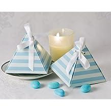 Artisano Designs Something Blue Pyramid Favor Box, 24-Pack