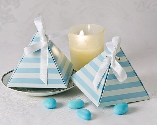 Something Blue Pyramid Favor Box (24 Pack) - Shower Favor...