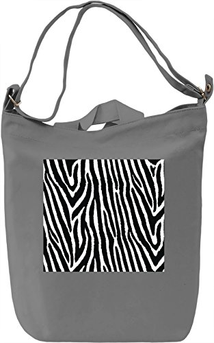 Zebra Print Pattern Full Print Borsa Giornaliera Canvas Canvas Day Bag| 100% Premium Cotton Canvas| DTG Printing|