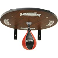 Supreme Speedball Plattform Set inkl. Drehkugellagerung schwarz und PU Boxbirne medium schwarz / rot - Boxapparat für die Wandmontage BCA-39