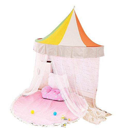 囲い火やりがいのあるZYH 子供用テント、屋内ゲームハウス、赤ちゃんベッドルーム半月、読書コーナー、おもちゃベッド、蚊帳、蚊帳、110-150CM 広いスペース (色 : A, サイズ さいず : 110CM)
