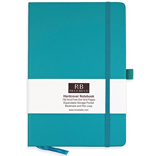 Dot Beaux (RICCO BELLO Dot Grid Notebook with Pen Loop / 5.7 x 8.4 inches (Teal))