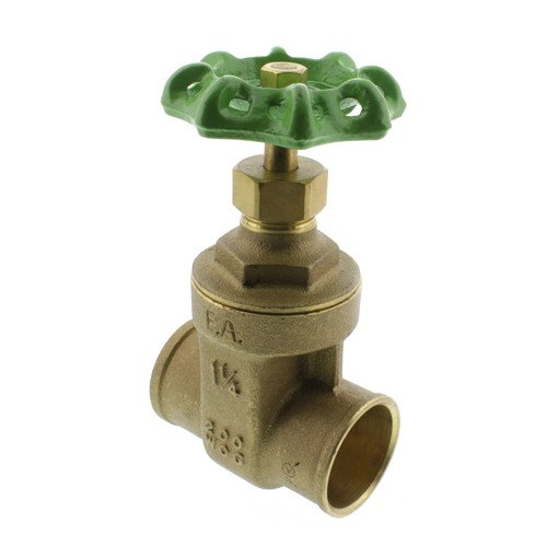 Matco-Norca 514C06LF Lead Free Brass Gate Valve, 1-1/4'' Solder Ends