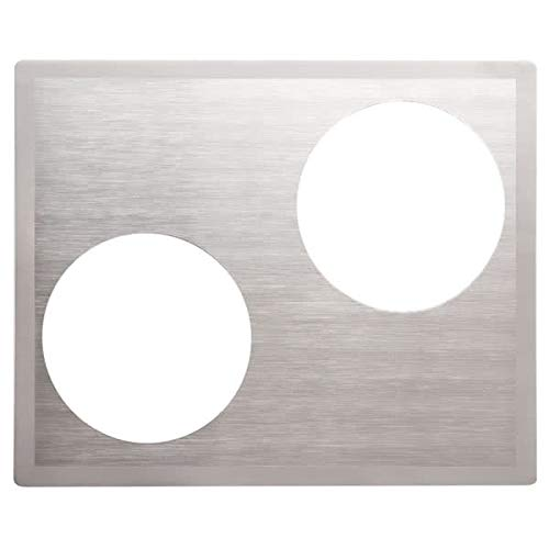 TableTop King 8250316 Miramar Stainless Steel Double Well Adapter Plate with Satin Finish Edge for Two Casserole Pans