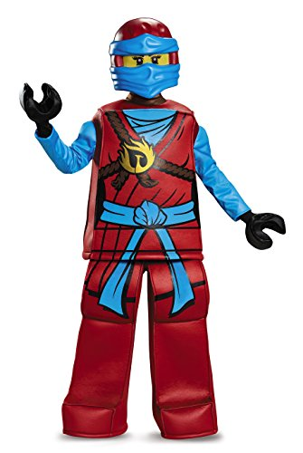 Disguise Nya Prestige Ninjago LEGO Costume, Large/10-12 (Lego Halloween Costumes)