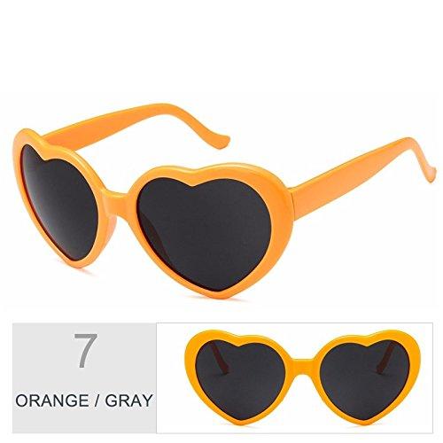 Vintage gafas gafas corazón gris Cute Gray TL Orange mujer Sunglasses de mujer rosado sol de sol tqfT8wx4E