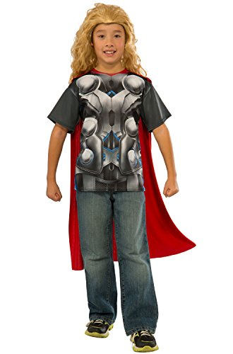 [Rubie's Costume Avengers 2 Age of Ultron Child's Thor T-Shirt and Cape, Medium] (Woman Thor Costume)