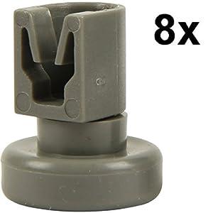 Spülmaschine Oberkorbrollen | Inhalt: 8 Stück | geeignet für AEG Favorit,...