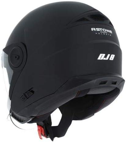 Casque jet look r/étro Astone Helmets Casque jet DJ8 monocolor Coque en polycarbonate Matt black L Casque id/éal en zone urbaine