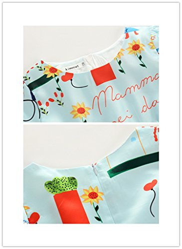 Toddler Sunny Fashion Girls Green playwear Mamma Party Sundress Dresses 2/8T by LUCKFACE (Image #4)