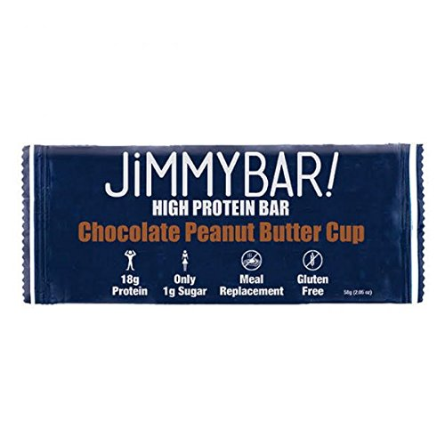 JiMMYBAR! CLEAN Protein Chocolate Peanut Butter Cup, 12 Count  (Cake Chocolate Butter Peanut)
